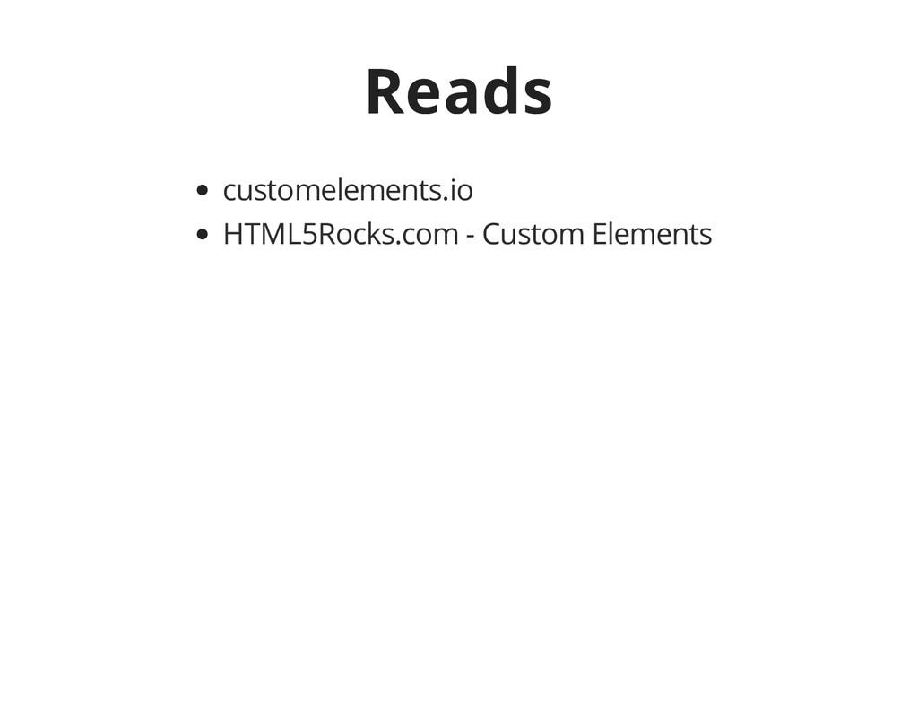 Reads customelements.io HTML5Rocks.com - Custom...