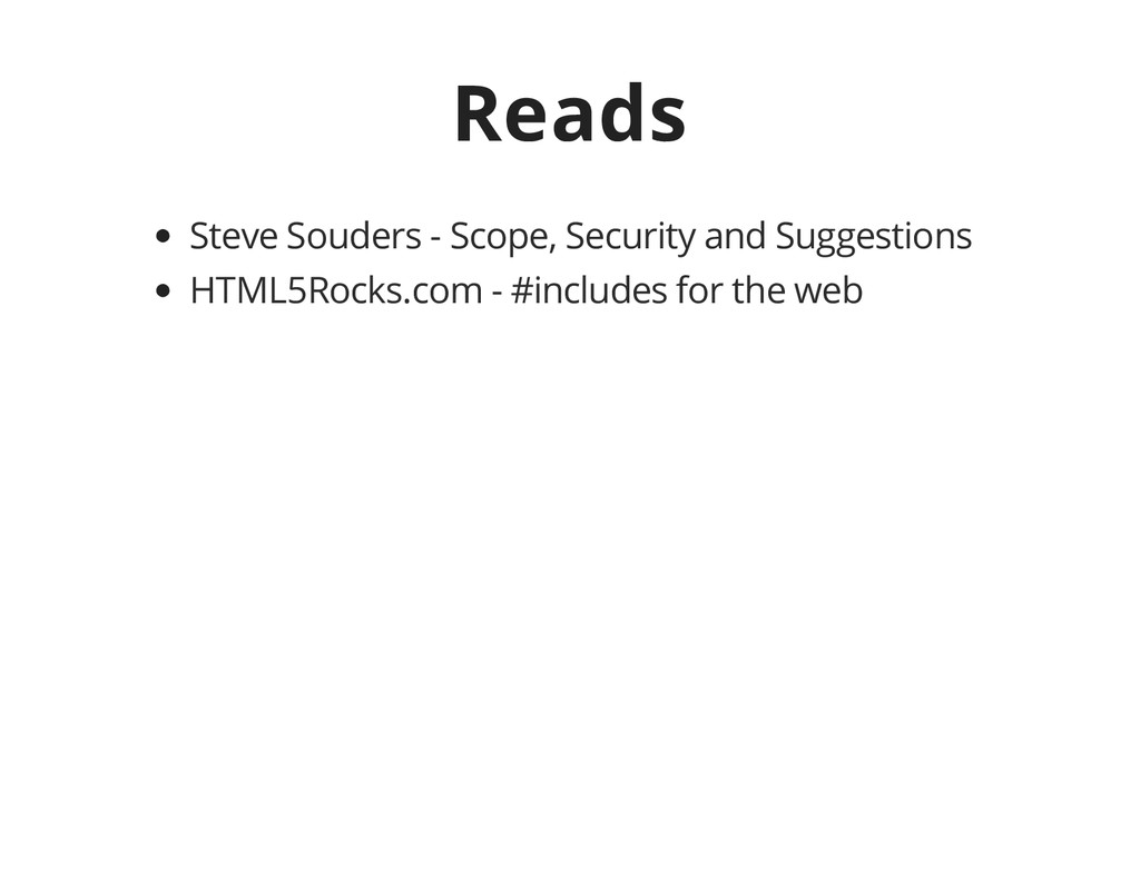 Reads Steve Souders - Scope, Security and Sugge...