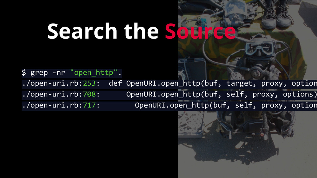 "Search the Source $ grep -nr ""open_http"". ./ope..."
