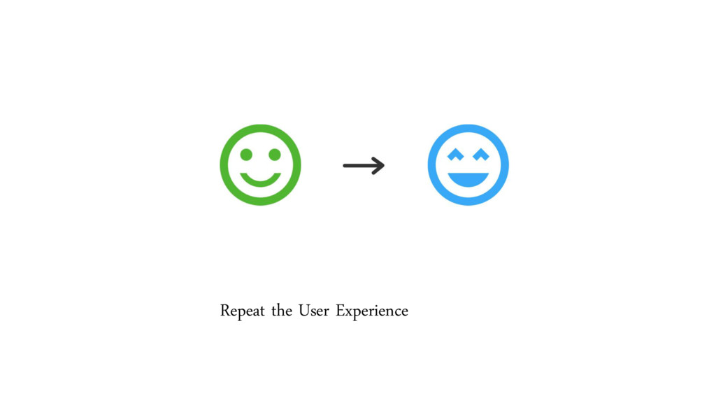 Repeat the User Experience