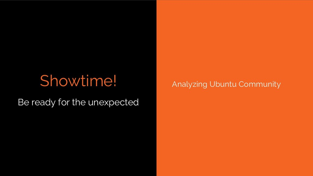 Showtime! Be ready for the unexpected Analyzing...