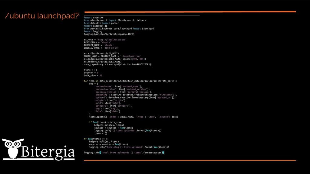 /ubuntu launchpad?