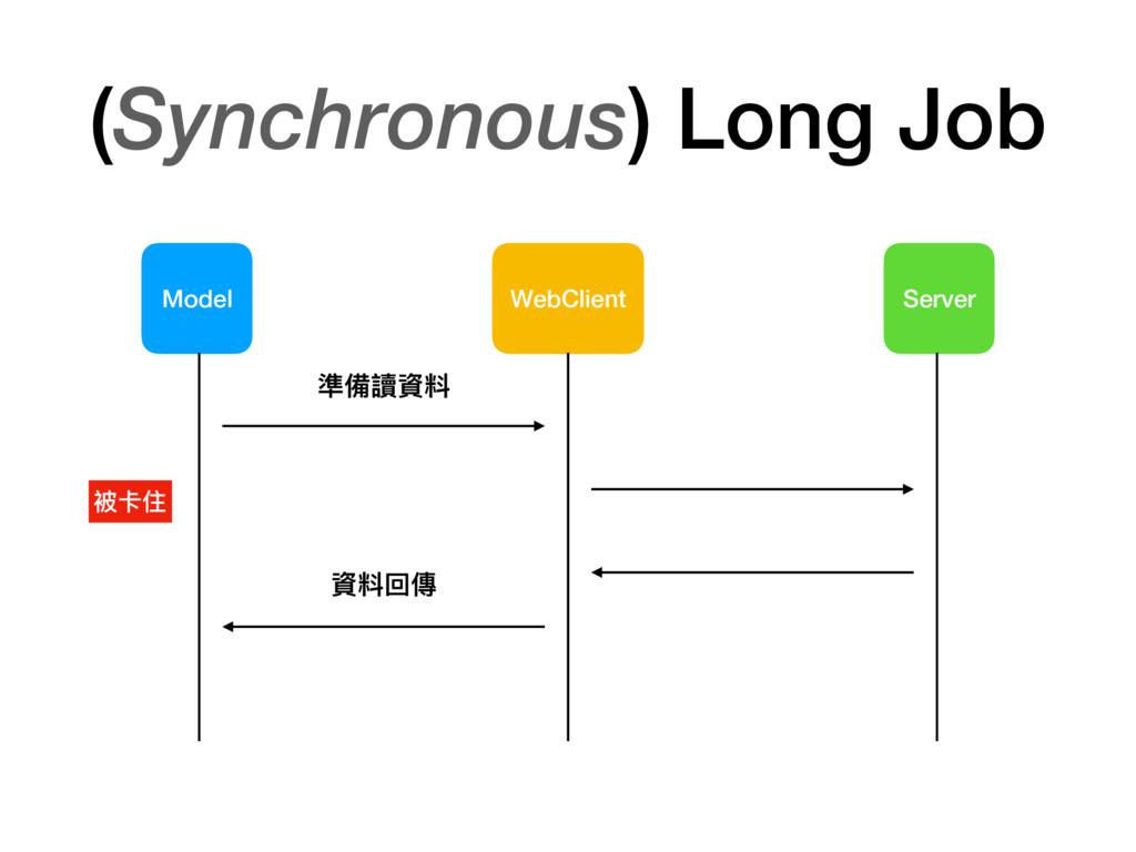 (Synchronous) Long Job Model WebClient Server 準...