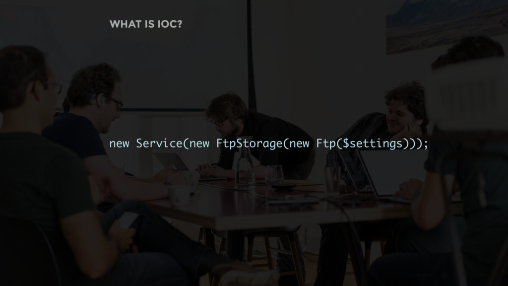 new Service(new FtpStorage(new Ftp($settings)))...
