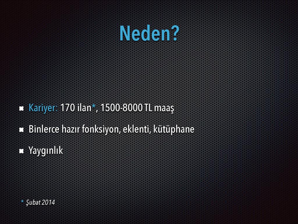 Neden? Kariyer: 170 ilan*, 1500-8000 TL maaş Bi...