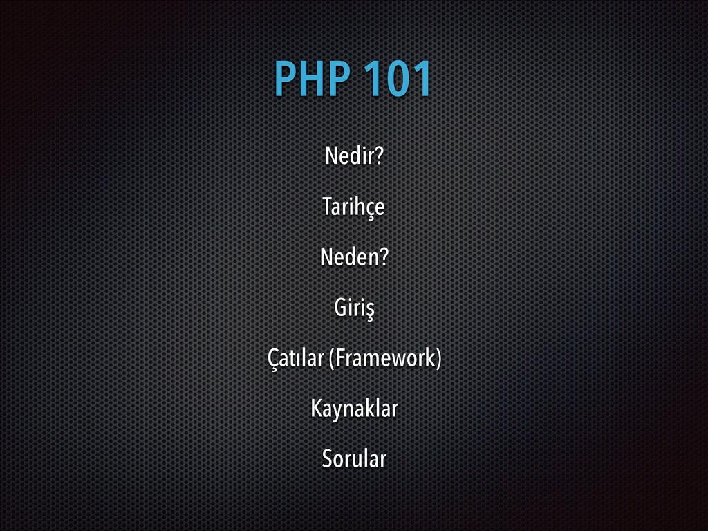 PHP 101 Nedir? Tarihçe Neden? Giriş Çatılar (Fr...