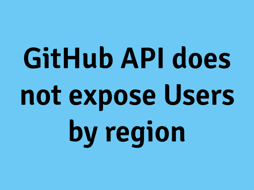GitHub API does not expose Users by region