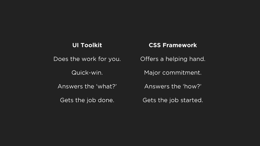 UI Toolkit CSS Framework Does the work for you....
