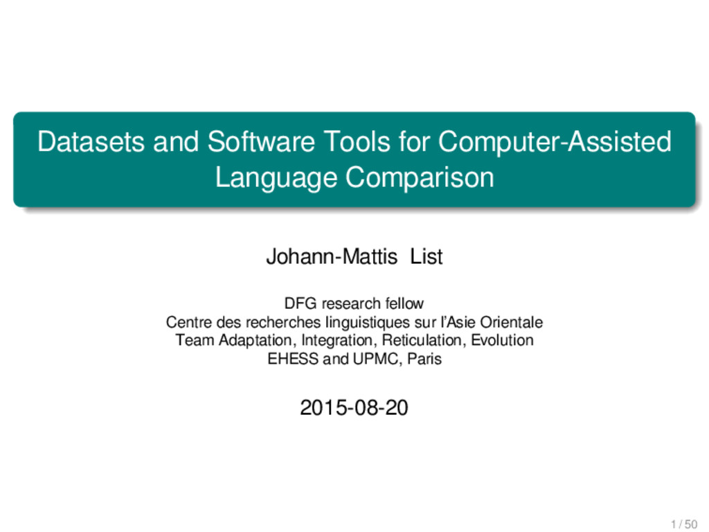 Datasets and Software Tools for Computer-Assist...