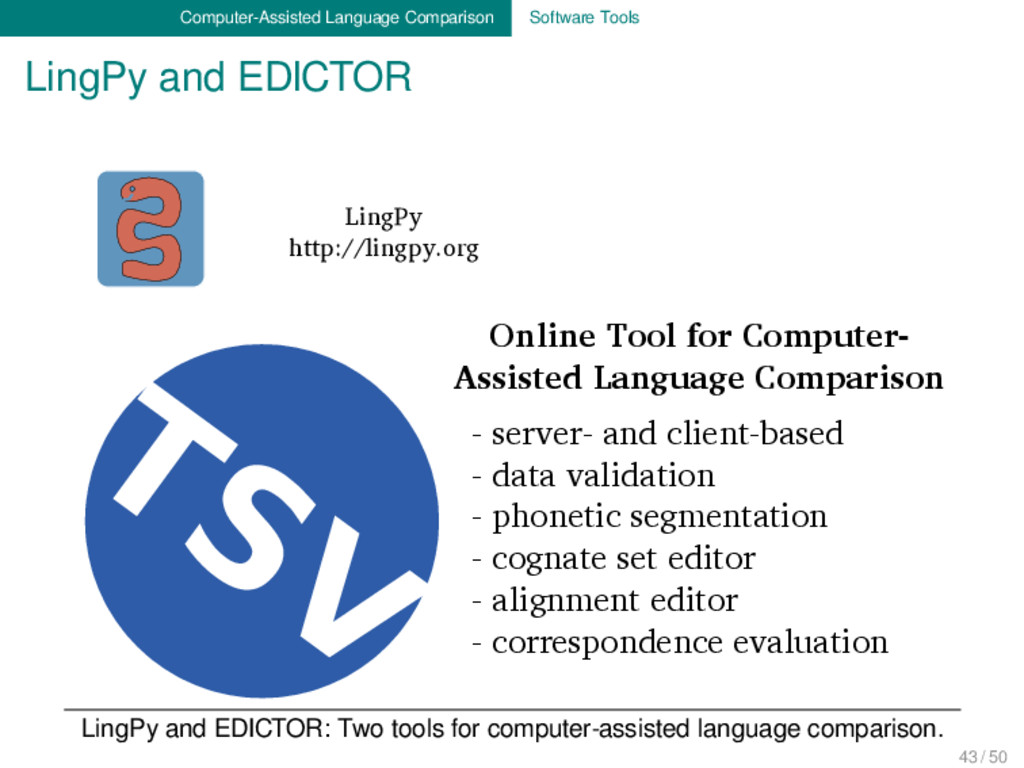 Computer-Assisted Language Comparison Software ...