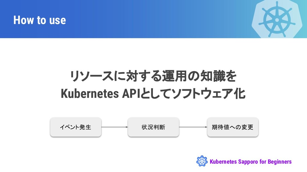 Kubernetes Sapporo for Beginners How to use リソー...