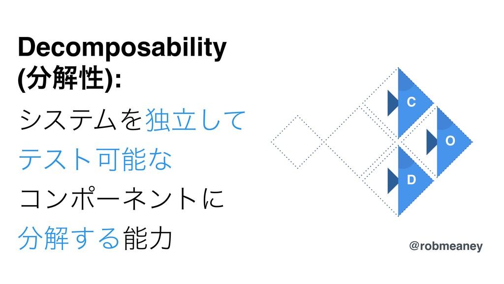 Decomposability (ղੑ): γεςϜΛಠཱͯ͠ ςετՄͳ ίϯϙʔωϯτ...