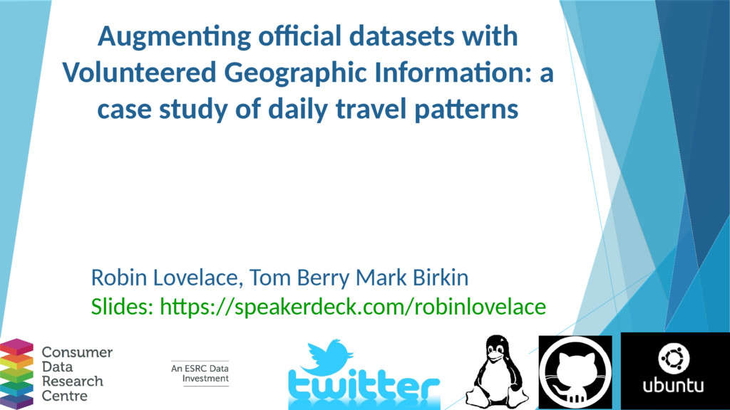Augmenting official datasets with Volunteered G...