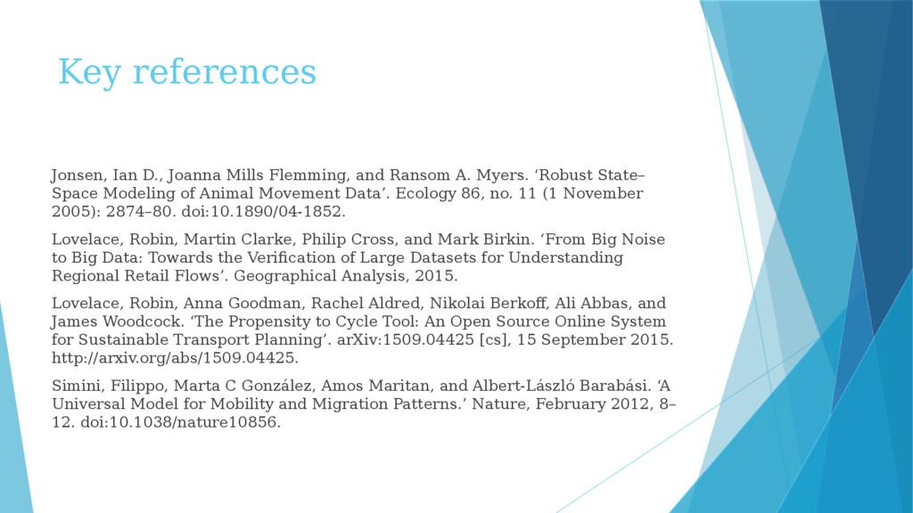 Key references Jonsen, Ian D., Joanna Mills Fle...