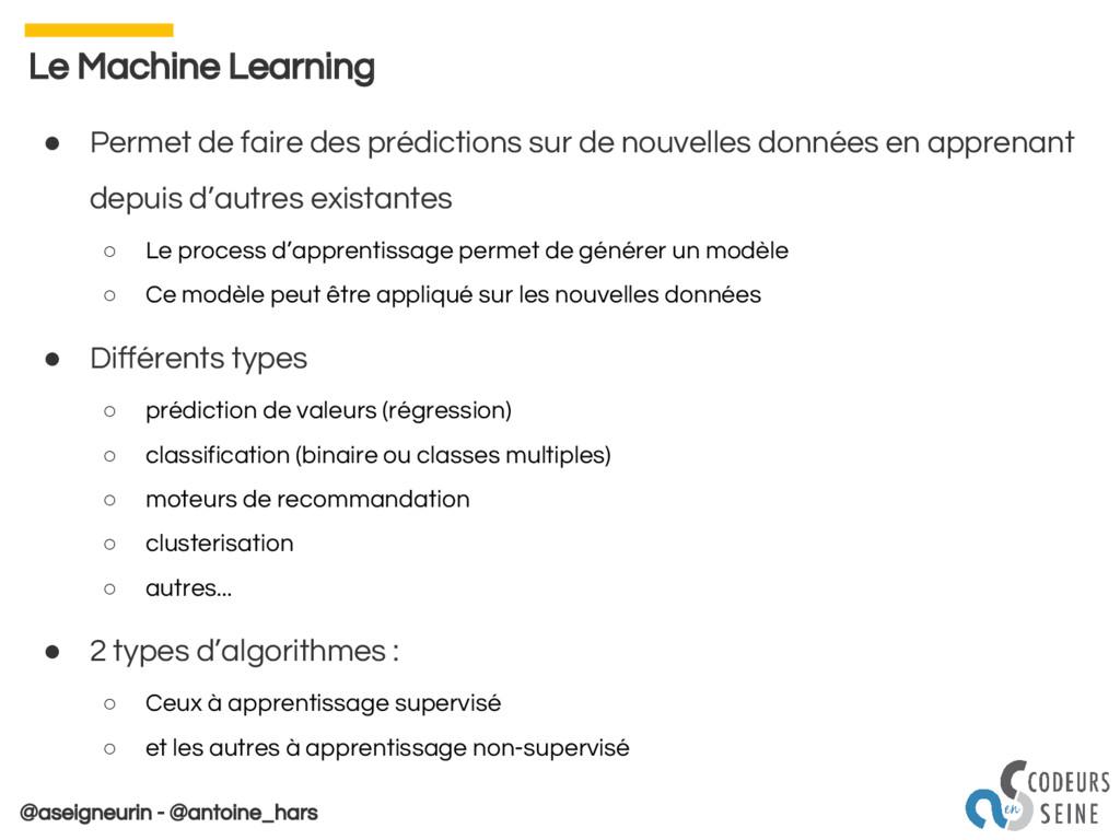 @aseigneurin - @antoine_hars Le Machine Learnin...