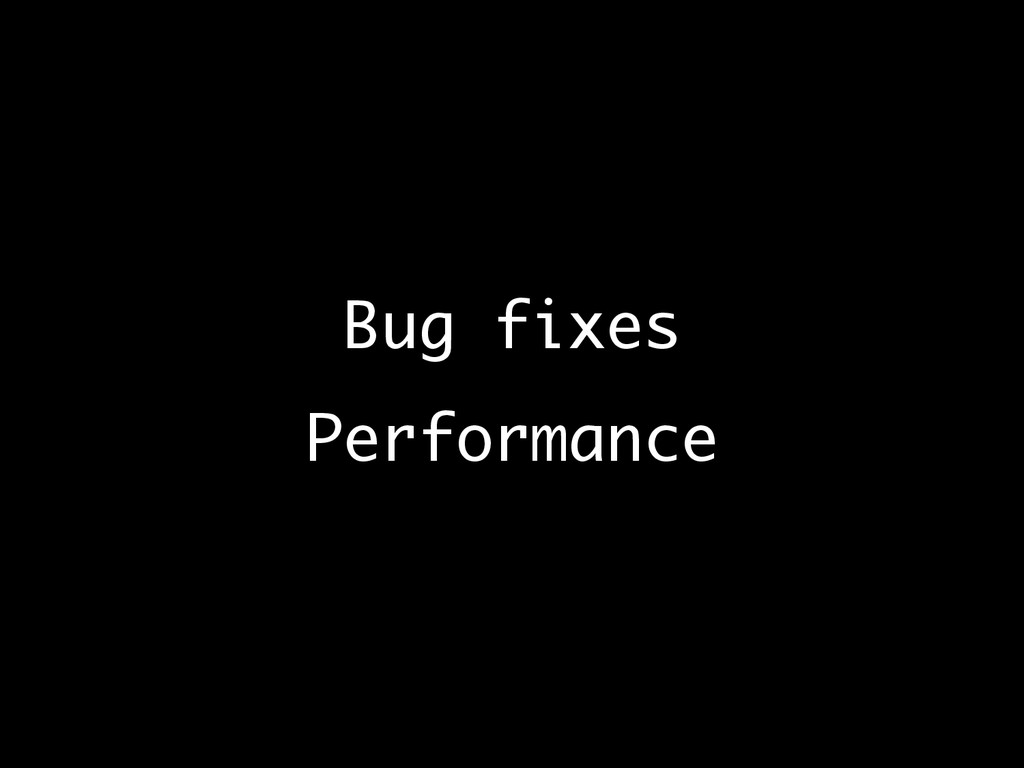 Bug fixes