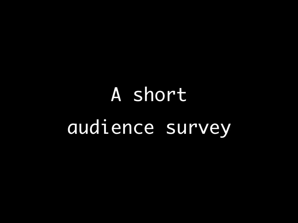 A short