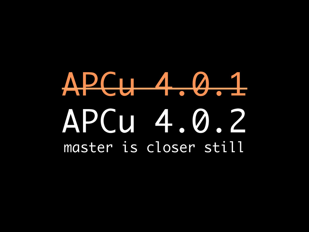 APCu 4.0.1