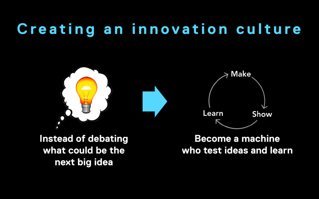 Become a machine who test ideas and learn Inst...