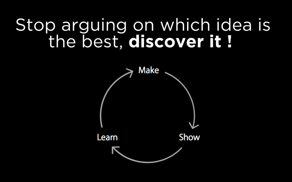 Stop arguing on which idea is the best, discove...