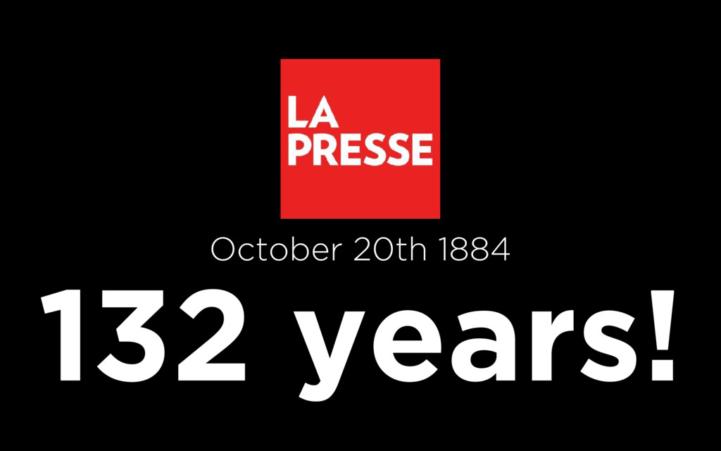 132 years! October 20th 1884