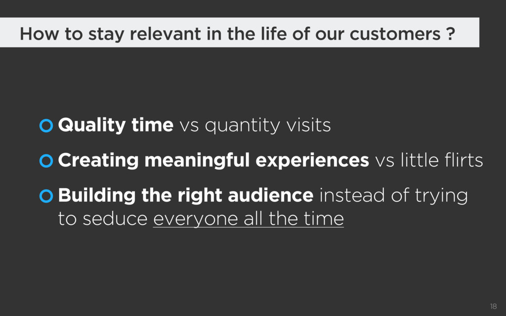 Quality time vs quantity visits Creating meanin...