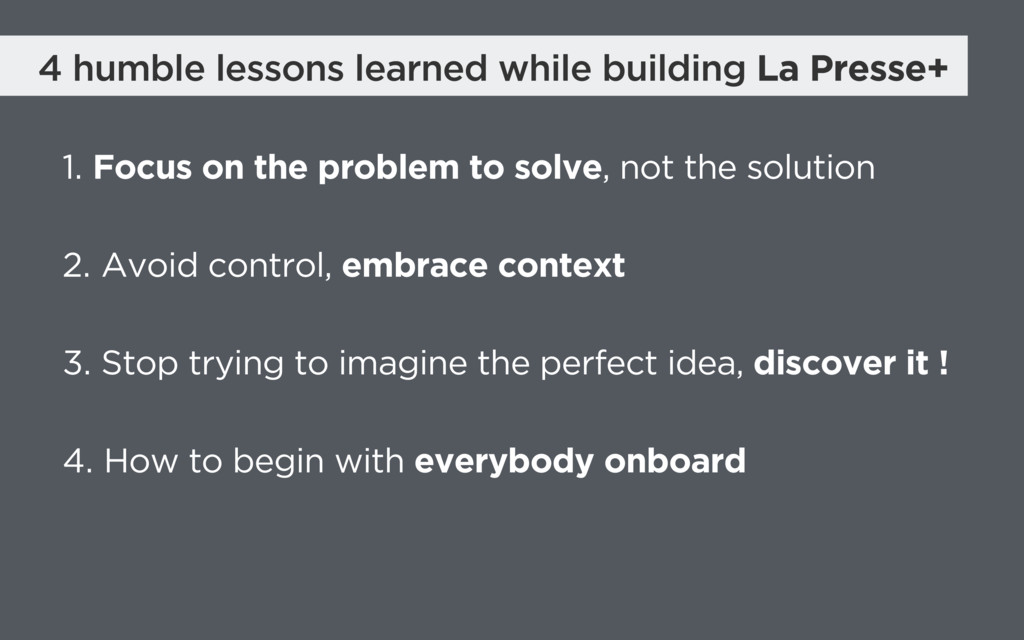 4 humble lessons learned while building La Pres...