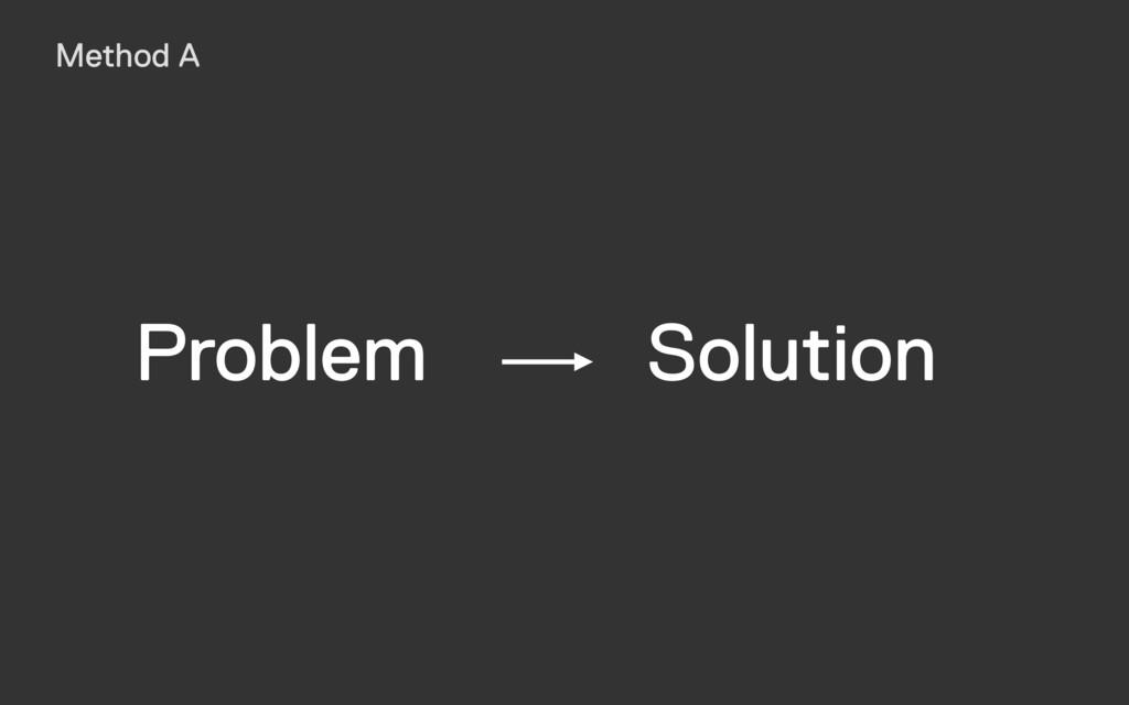 Solution Problem Method A