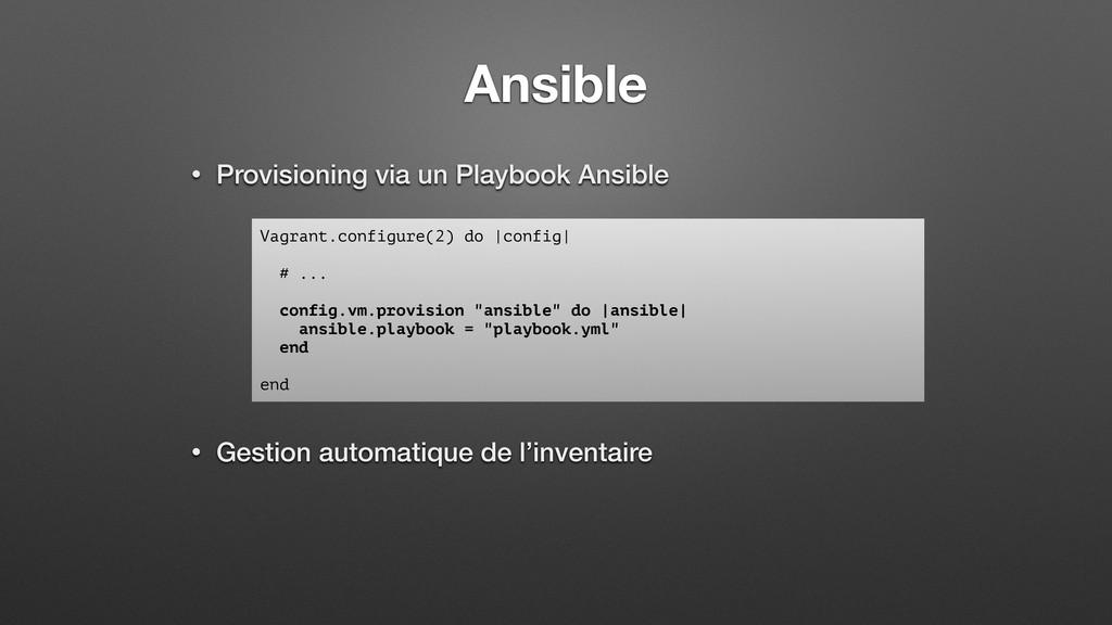 Ansible • Provisioning via un Playbook Ansible ...