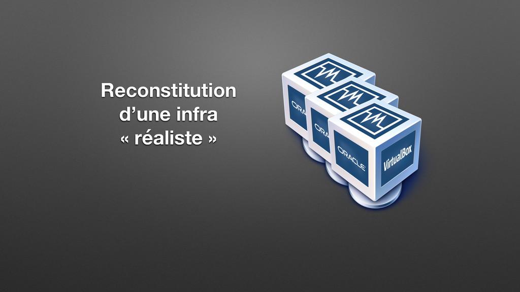 Reconstitution d'une infra « réaliste »