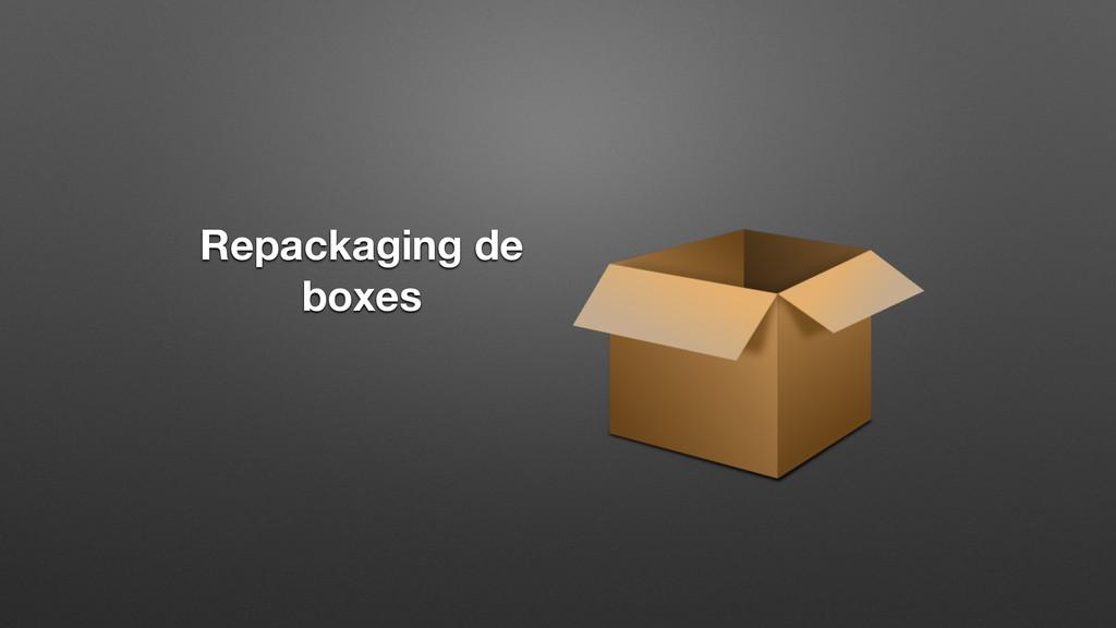 Repackaging de boxes
