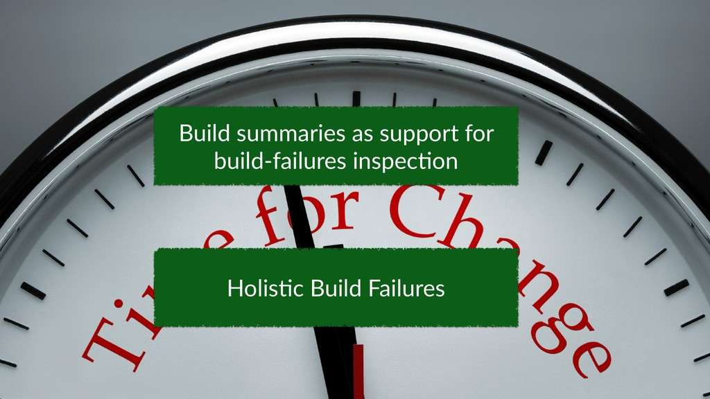 34 Holis;c Build Failures Build summaries as su...