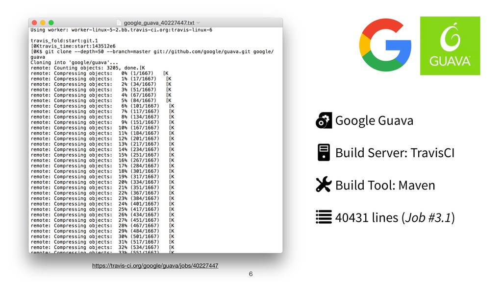 6 Google Guava Build Server: TravisCI Build Too...