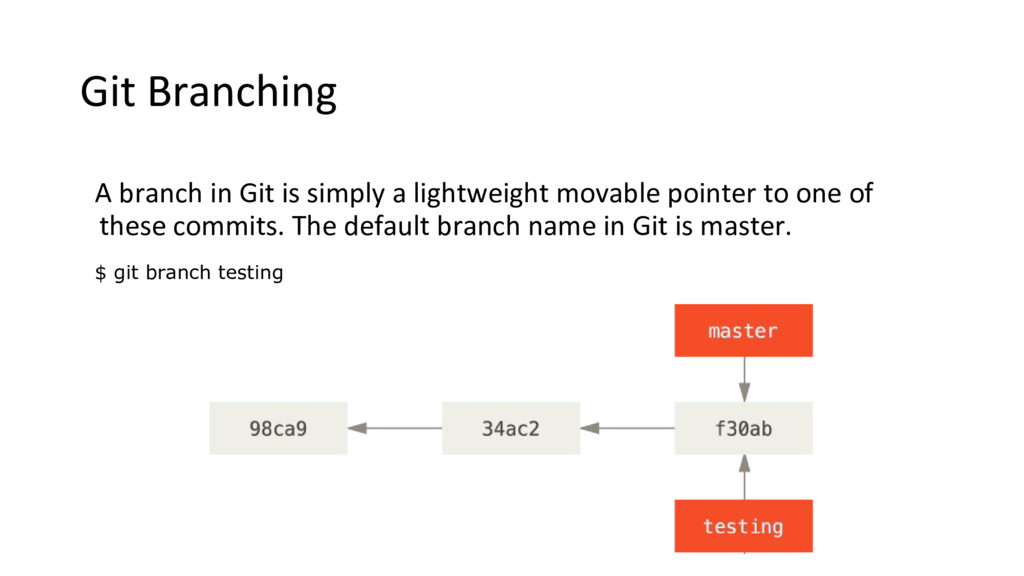 Git Branching A branch in Git is simply a light...