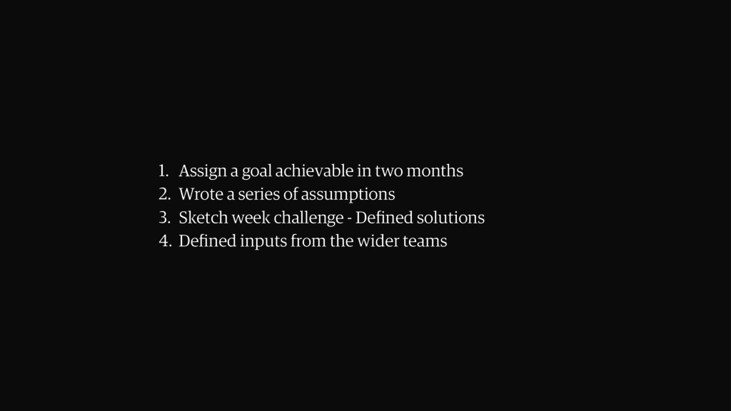 1. Assign a goal achievable in two months 2. Wr...