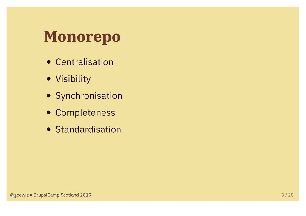 Monorepo Centralisation Visibility Synchronisat...