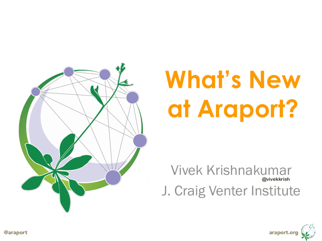 araport.org @araport What's New at Araport? Viv...