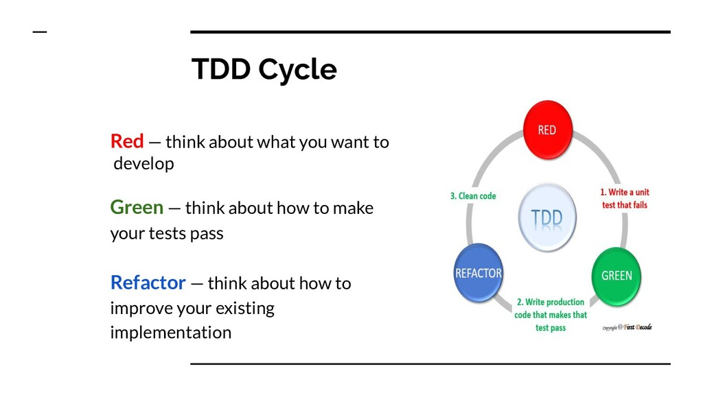 TDD Cycle Red — think about what you want to de...
