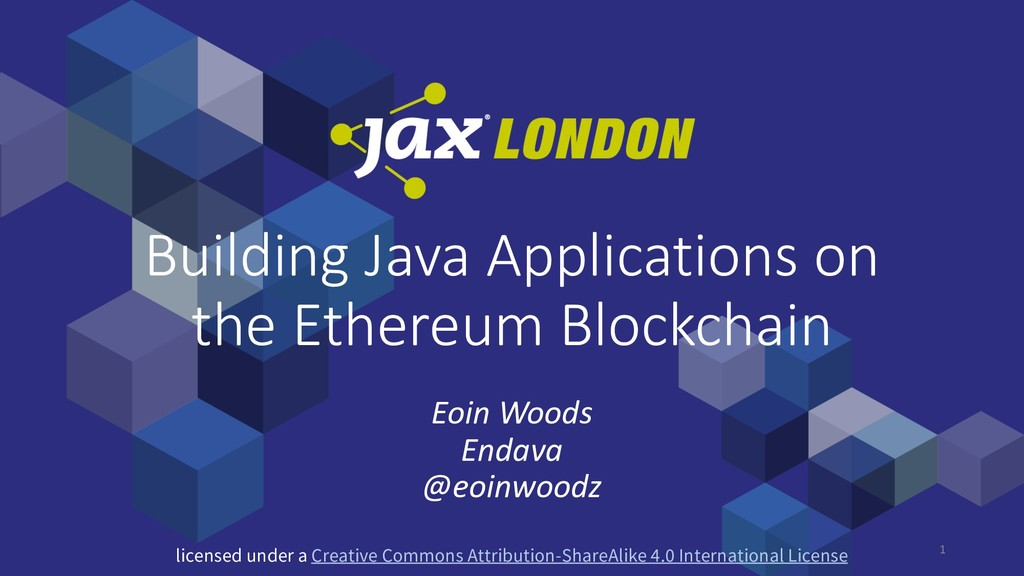 1 Building Java Applications on the Ethereum Bl...