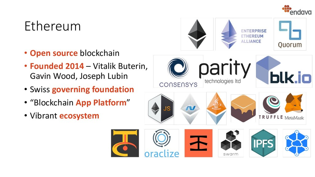 Ethereum • Open source blockchain • Founded 201...