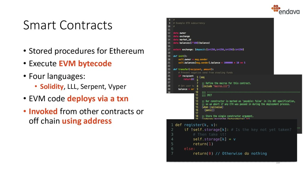 Smart Contracts • Stored procedures for Ethereu...