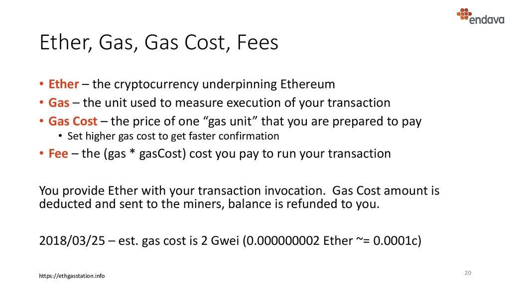 Ether, Gas, Gas Cost, Fees • Ether – the crypto...
