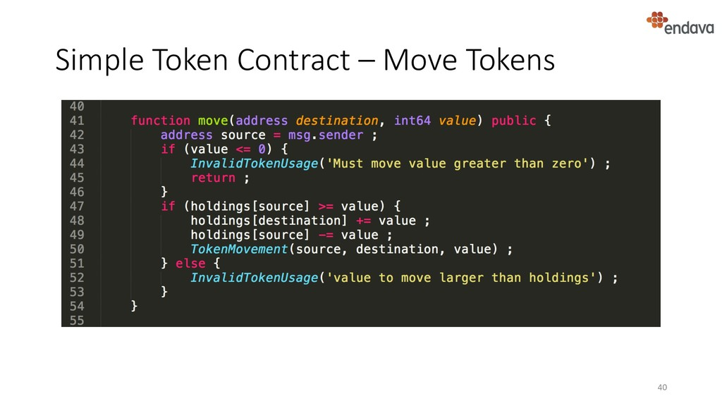 Simple Token Contract – Move Tokens 40