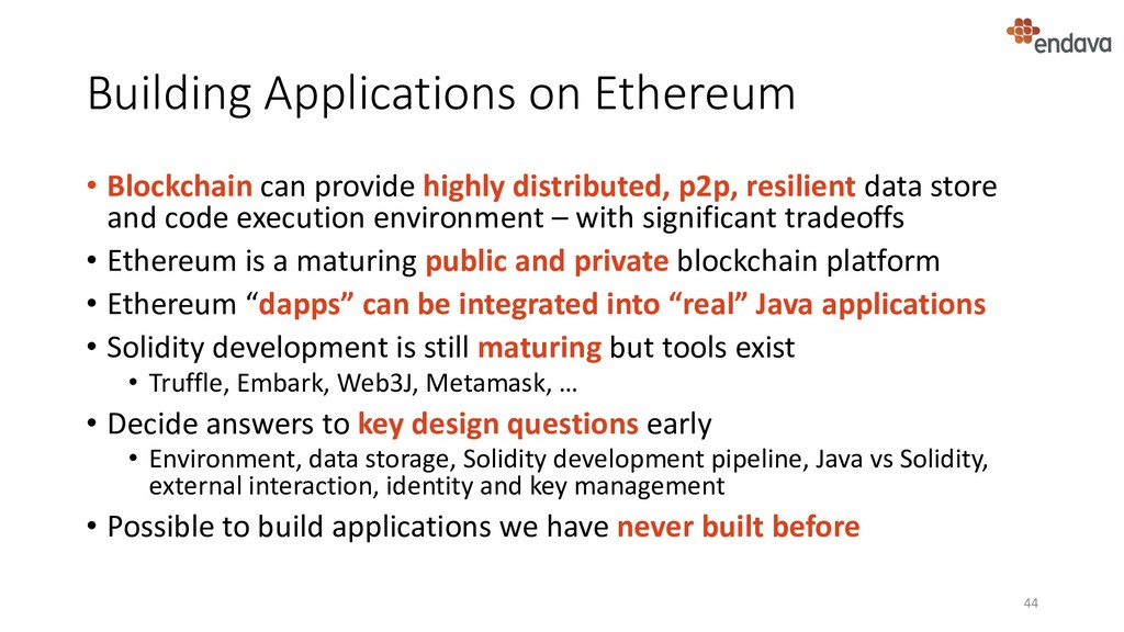Building Applications on Ethereum • Blockchain ...