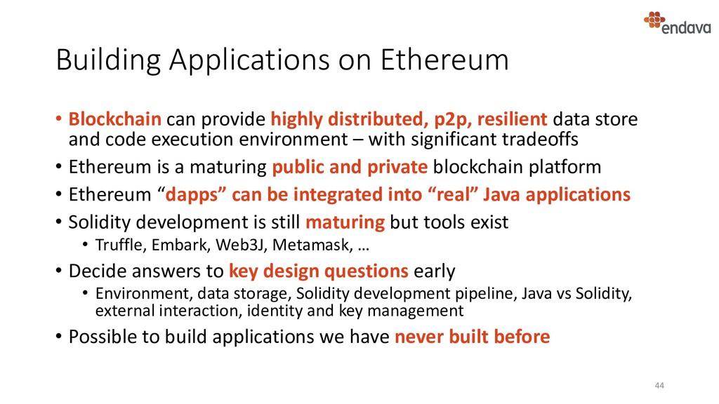 Building Applications on Ethereum • Blockchain ...
