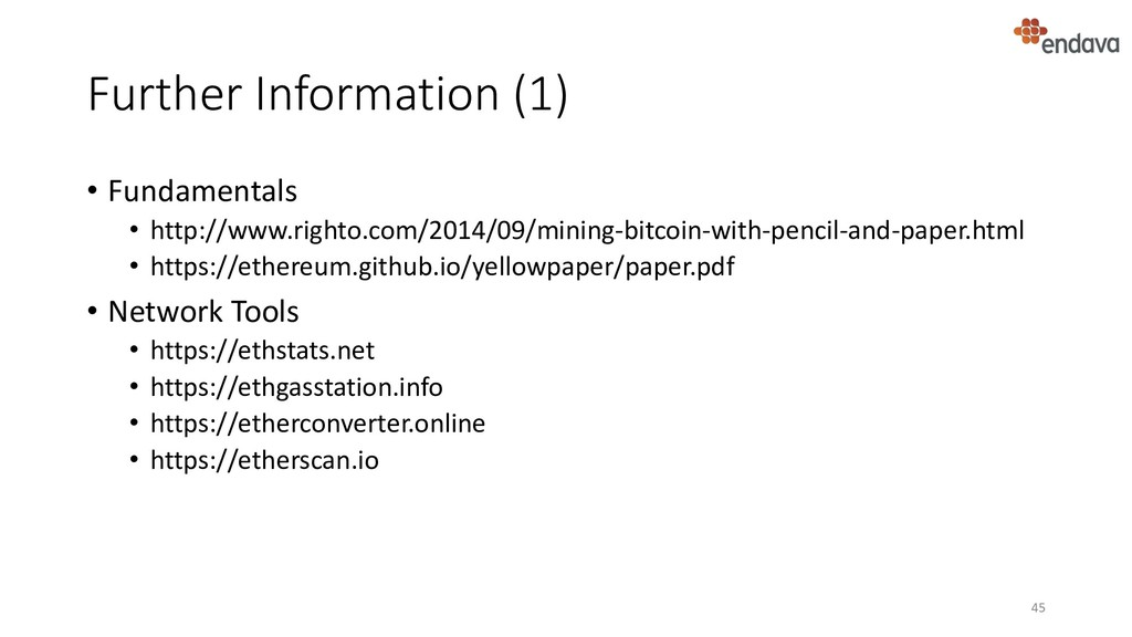 Further Information (1) • Fundamentals • http:/...