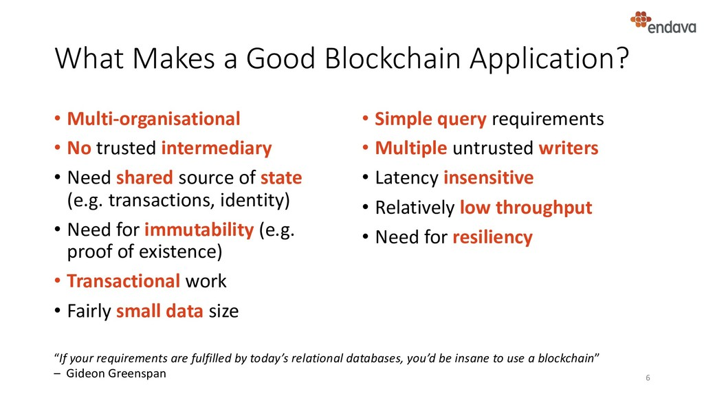 What Makes a Good Blockchain Application? • Mul...