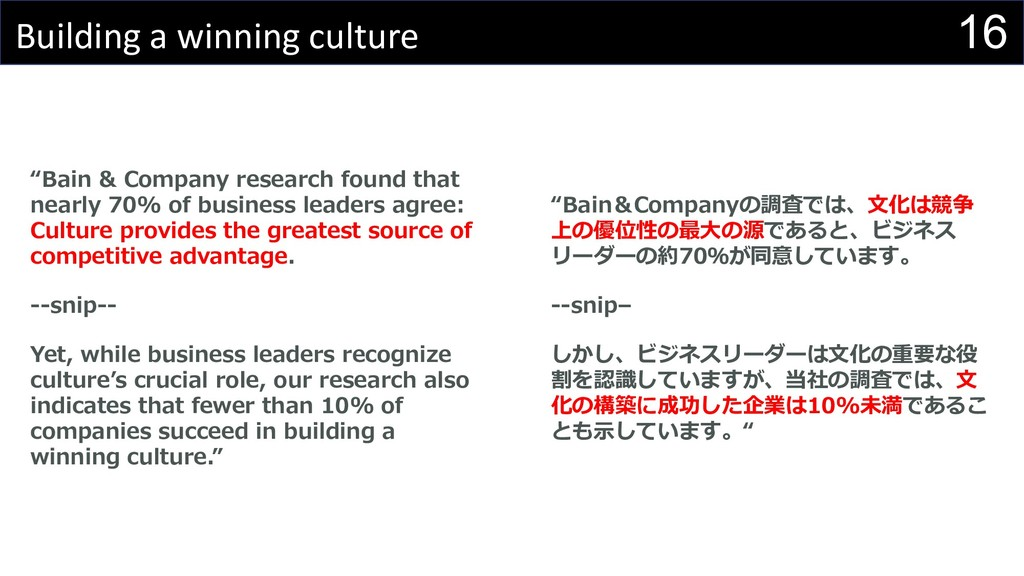 "16 Building a winning culture ""Bain & Company r..."