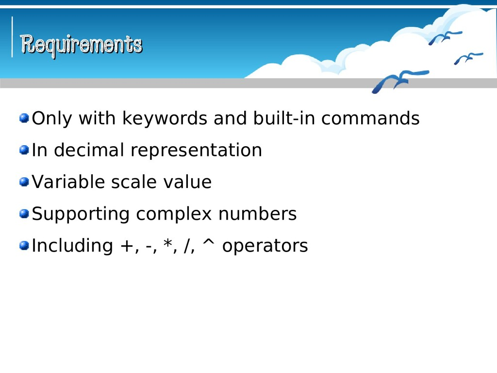 Requirements Requirements Only with keywords an...
