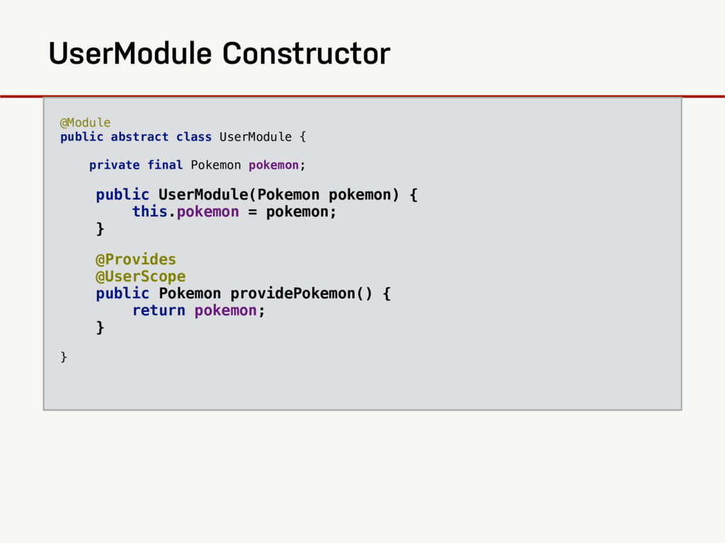 @Module public abstract class UserModule { ...